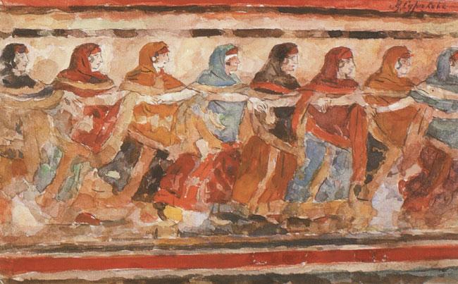 Dancing girls, 1883 - Vasily Surikov