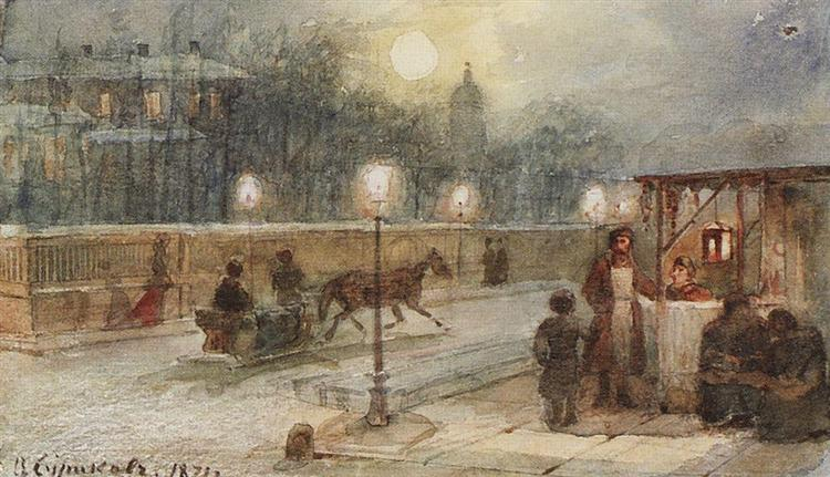 Evening in Petersburg, 1871 - Vasily Surikov