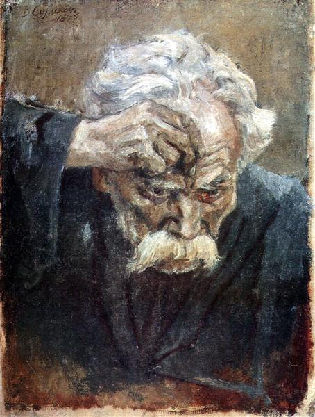 Head of baptized soldier, 1897 - Vasily Surikov