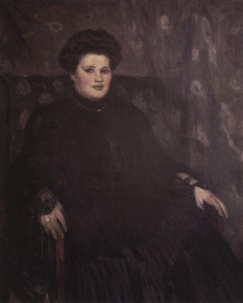 Portrait of A. N Tretyakova, c.1913 - Vasily Surikov