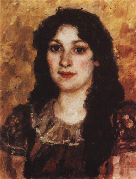 Portrait of E. A. Surikova - Vasily Surikov