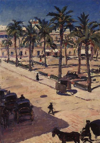 Square San-Fernando in Seville, 1910 - Vasily Surikov
