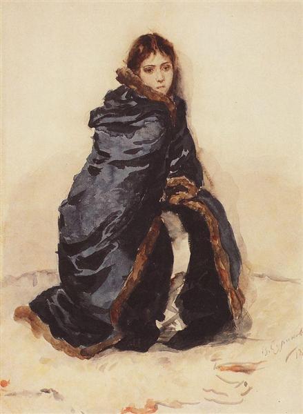 The elder Menshikov's daughter, 1882 - Wassili Iwanowitsch Surikow