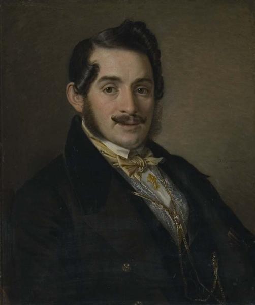 Portrait of an unknown in a black coat, 1838 - Vasily Tropinin