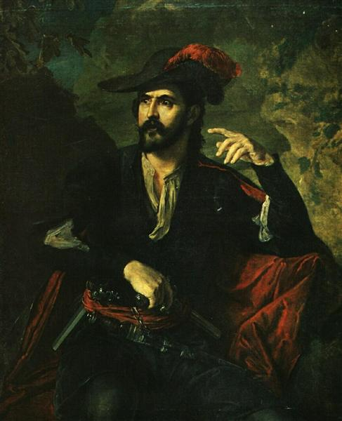 Rogue (Portrait of Prince Obolensky) - Vasily Tropinin