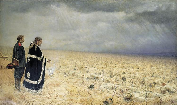 Defeated. Requiem, 1878 - 1879 - Vasily Vereshchagin