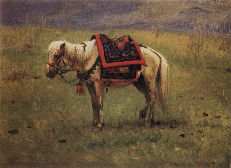 Himalayan ponies, 1875 - Vasily Vereshchagin