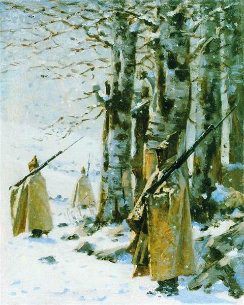 Picket in the Balkan Mountains, c.1878 - Vasily Vereshchagin