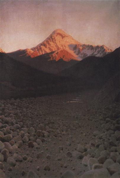 The Mount Kazbek, 1897 - 1898 - Vasily Vereshchagin