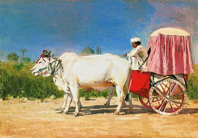 Vehicle in Delhi, 1875 - Vasily Vereshchagin