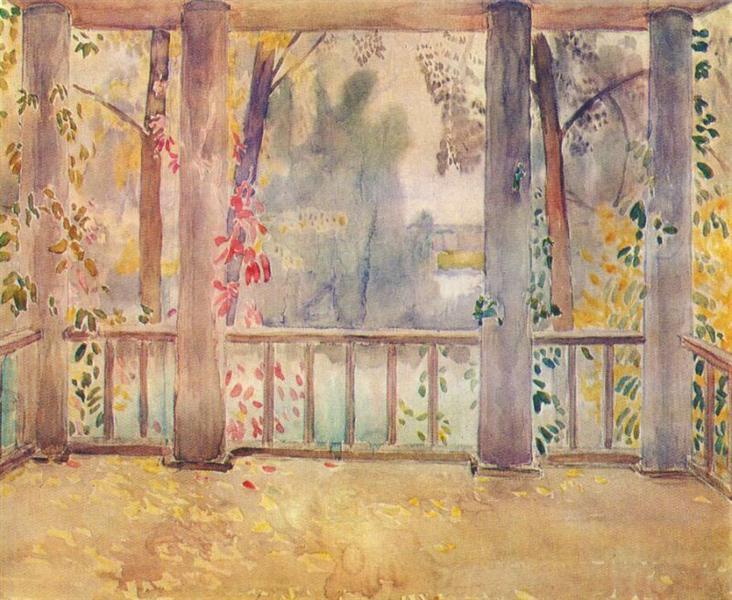 On a Balcony in Tarusa, 1905 - Victor Borisov-Musatov