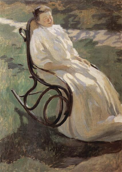 Woman in rocking chair, 1897 - Victor Borisov-Musatov