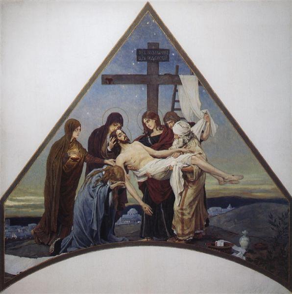 Deposition, 1888 - 1901 - Viktor Vasnetsov