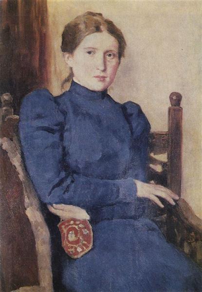 Portrait of T. V. Vasnetsova, 1901 - Viktor Vasnetsov