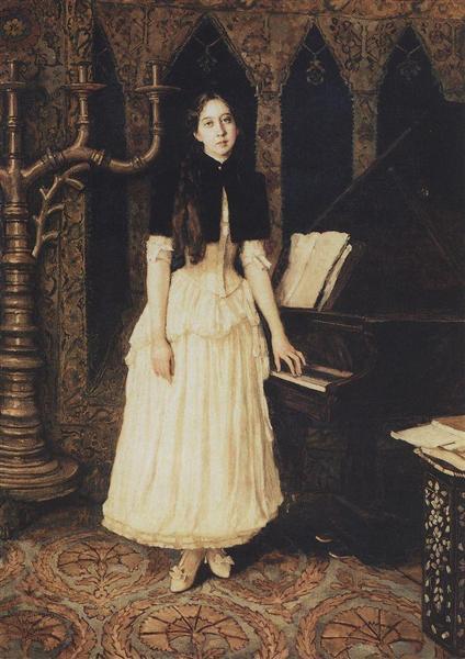 Portrait of Helena Adrianovny Prahovo, 1894 - Viktor Vasnetsov