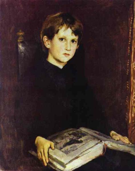 Portrait of Michael Vasnetsov, the Artist`s Son, 1892 - Viktor Vasnetsov