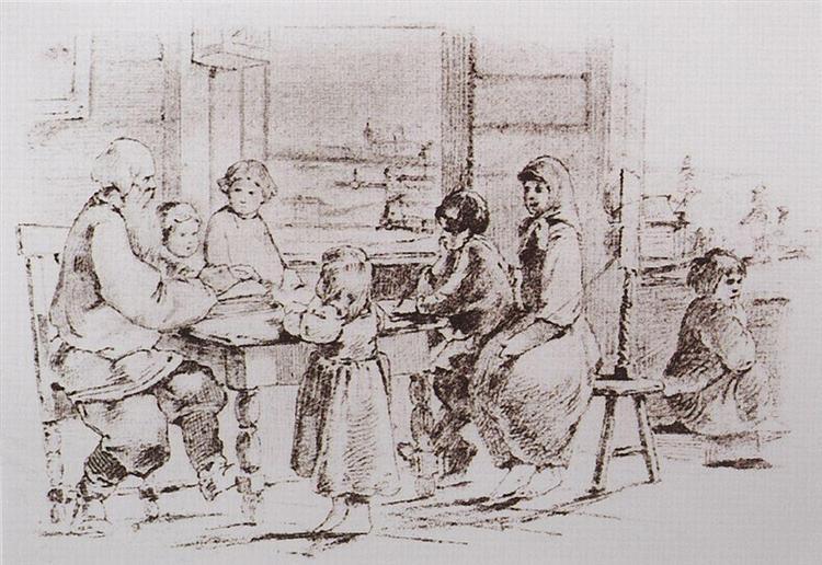Russian proverbs and sayings, 1866 - 1867 - Viktor Vasnetsov