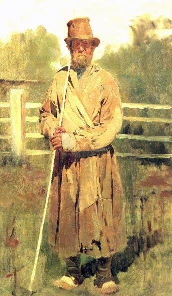 The farmer with a sixth (study), 1877 - Viktor Vasnetsov