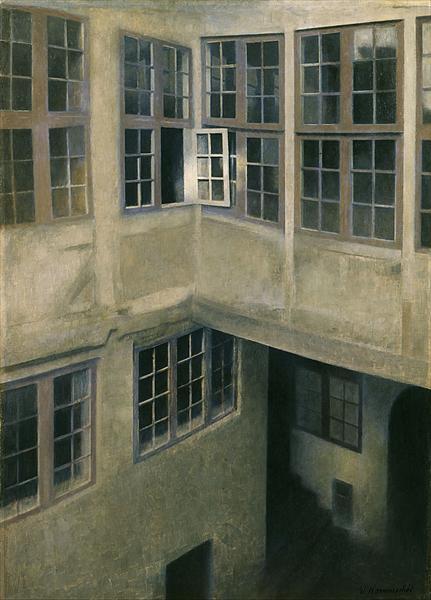 Interior of Courtyard, Strandgade 30, 1899 - Vilhelm Hammershoi
