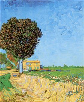 Un carril cerca de Arles, Vincent van Gogh