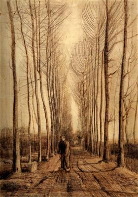 Avenida de álamos, Vincent van Gogh