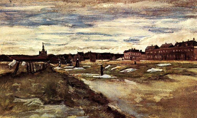 Bleaching Ground, 1882 - Vincent van Gogh