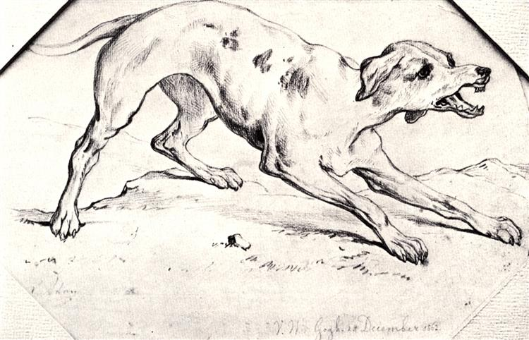 Dog, 1862 - Vincent van Gogh