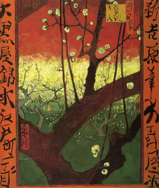 Japonaiserie (after Hiroshige), 1887 - Винсент Ван Гог