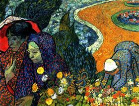 Señoras de Arles (memorias del jardín en Etten), Vincent van Gogh