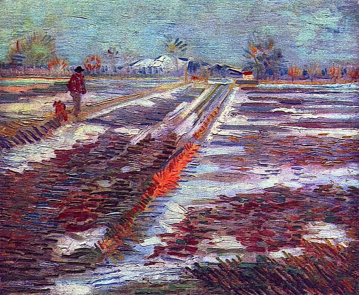 Landscape with Snow, 1888 - Vincent van Gogh
