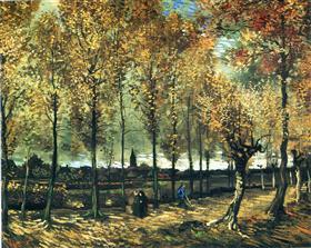 Carril con los álamos cerca de Nuenen, Vincent van Gogh
