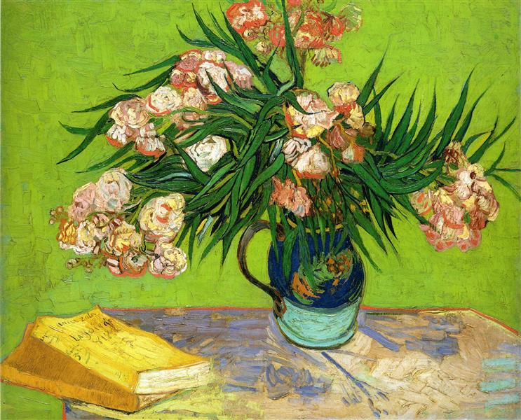 Oleanders and Books, 1888 - Vincent van Gogh