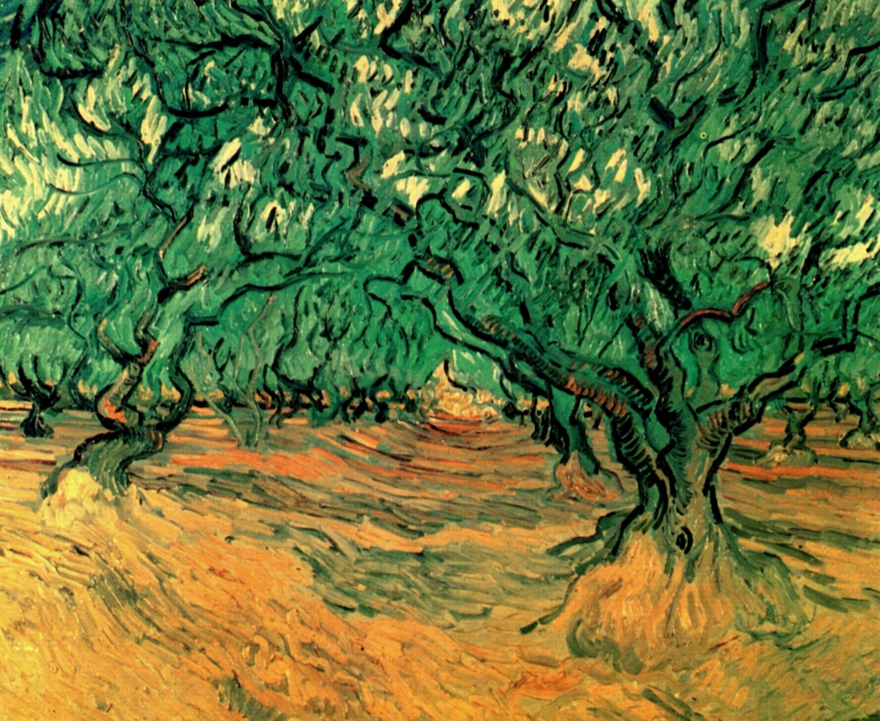 Olive trees 1889 vincent van gogh for Van gogh paintings locations