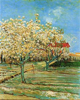 Huerta en el flor, Vincent van Gogh