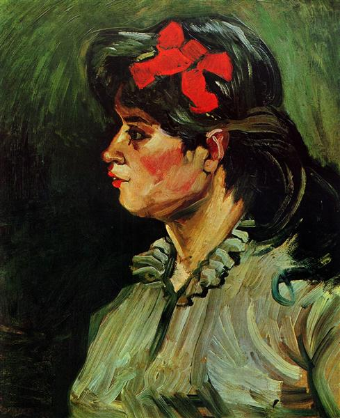 Portrait of a Woman with a Red Ribbon, 1885 - Vincent van Gogh