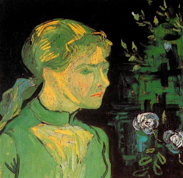 Portrait of Adeline Ravoux, 1890 - 梵谷