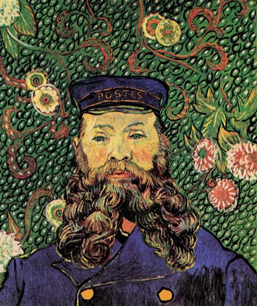 Portrait Of The Postman Joseph Roulin 1889 Vincent Van Gogh Wikiart Org
