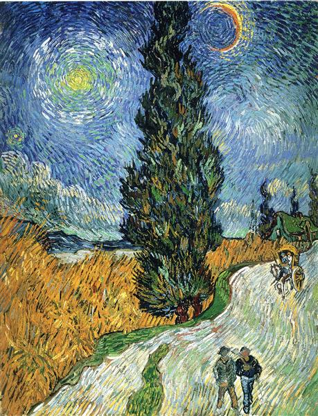 Road with Cypresses, 1890 - Vincent van Gogh