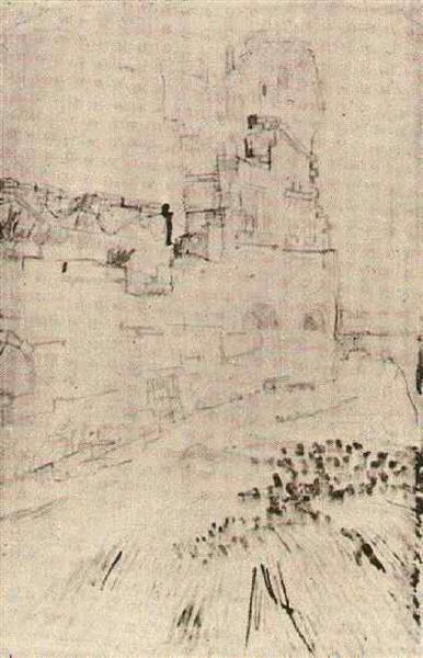 Ruins of Montmajour, 1888 - Vincent van Gogh