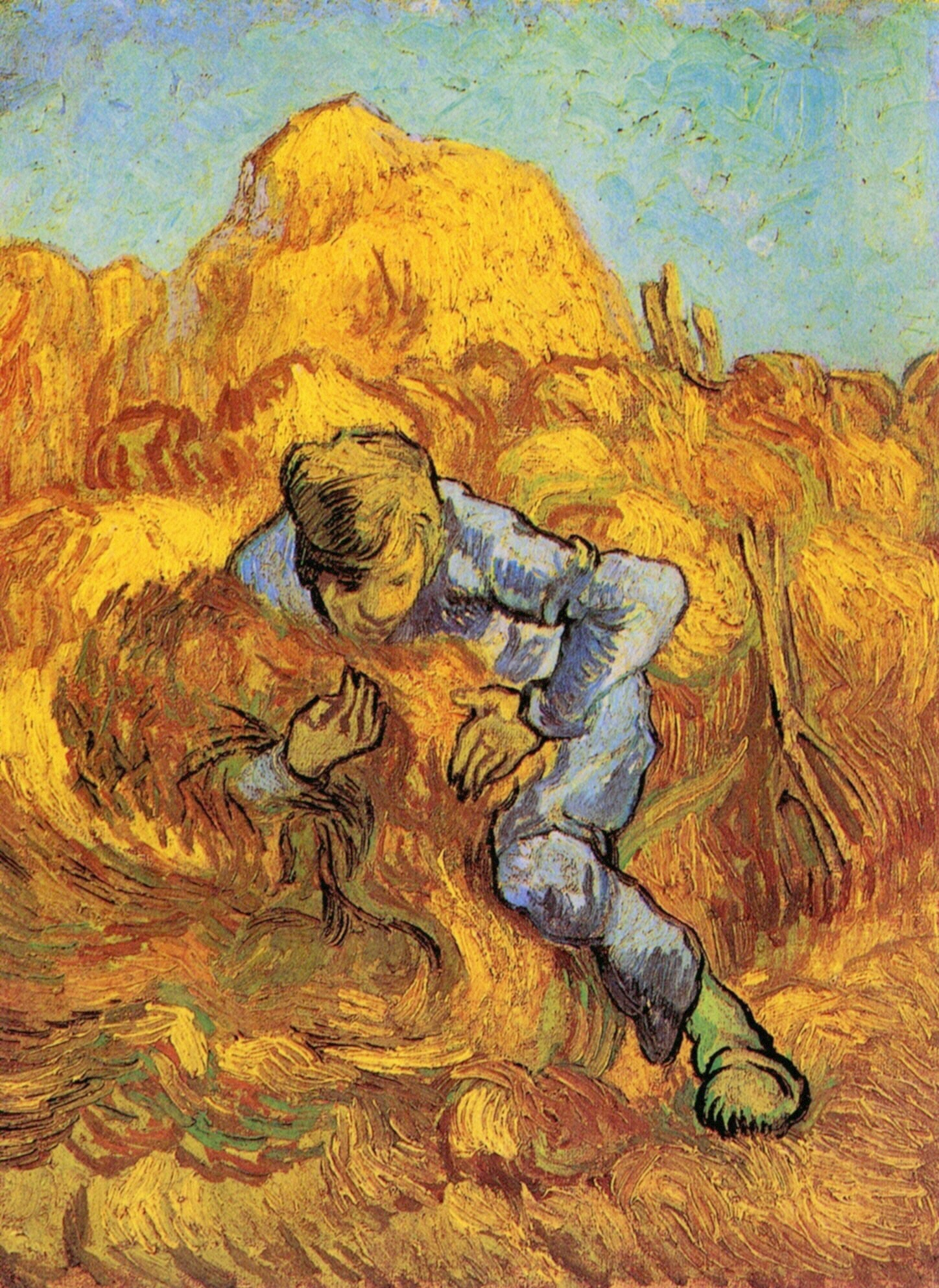 Sheaf binder the after millet vincent van gogh for Van gogh paintings locations