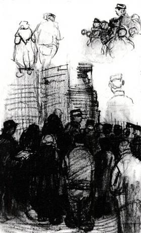 Bocetos para el sorteo de una subasta, Vincent van Gogh