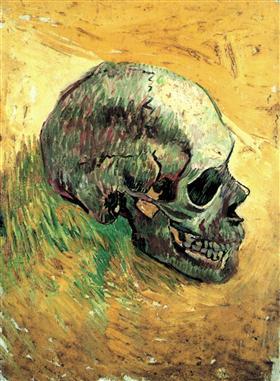 Cráneo, Vincent van Gogh
