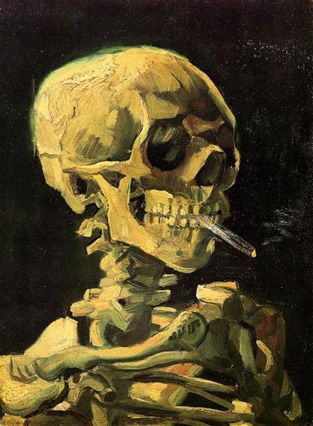 Skull with Burning Cigarette, 1885 - Vincent van Gogh