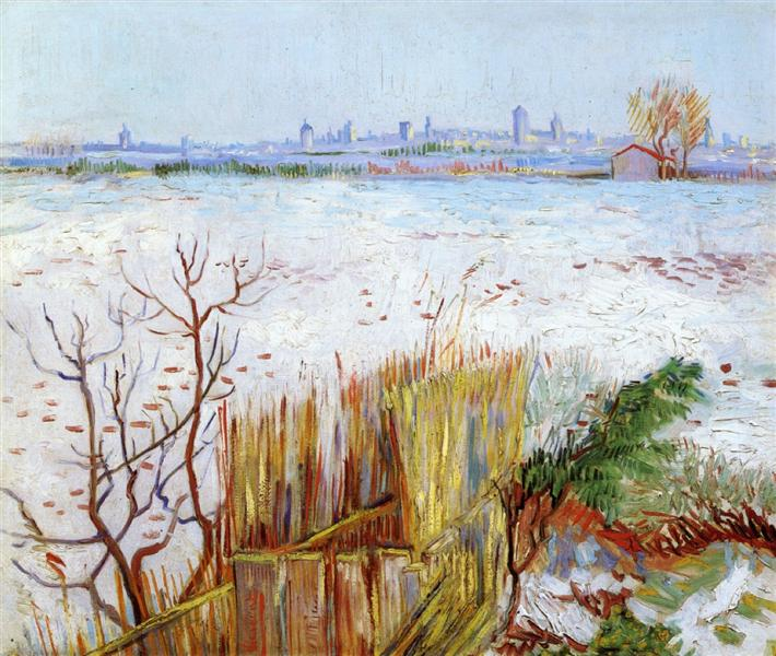 Snowy Landscape with Arles in the Background, 1888 - Vincent van Gogh