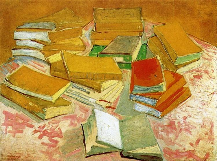 Still Life - French Novels, c.1888 - Vincent van Gogh - WikiArt.org