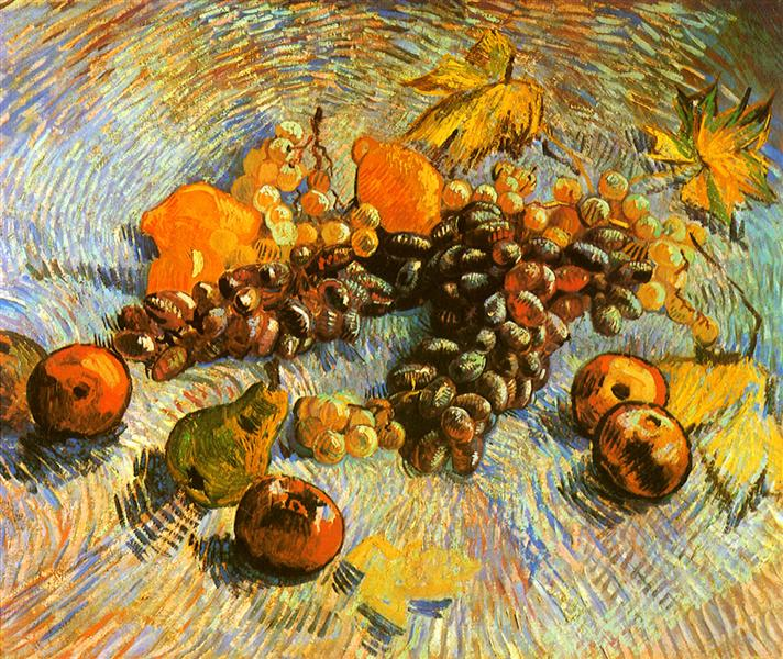 Still Life with Apples, Pears, Lemons and Grapes, 1887 - Vincent van Gogh
