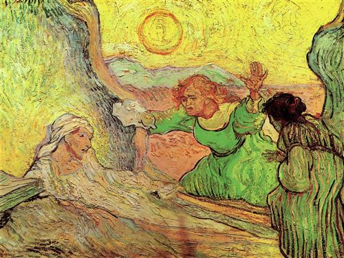 The Raising of Lazarus after Rembrandt - Vincent van Gogh