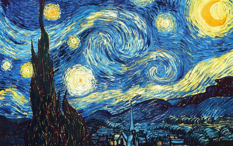 The Starry Night, 1889 - Vincent van Gogh