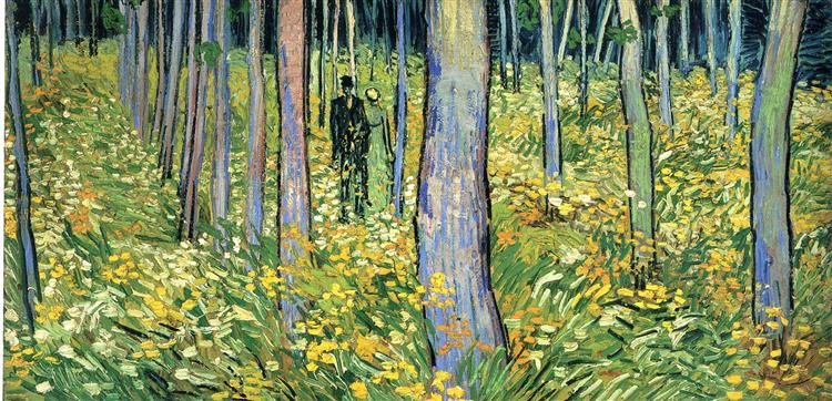 Undergrowth with Two Figures, 1890 - Vincent van Gogh
