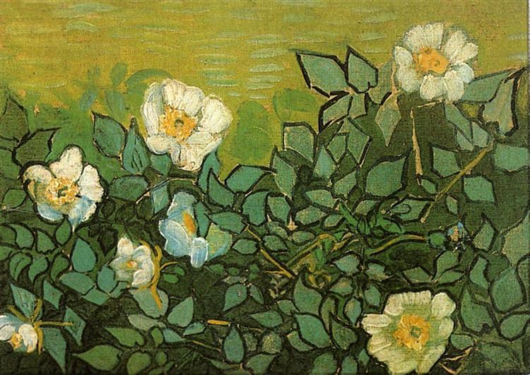 Wild Roses, 1890 - Vincent van Gogh
